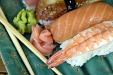 Different Varieties Of Sushi Stock Photos