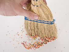 Free Hand Sweeping Sprinkles Royalty Free Stock Image - 4552826