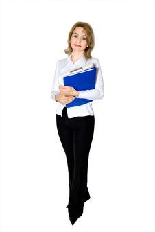 Free Businesswoman With Documents Royalty Free Stock Photos - 4552878