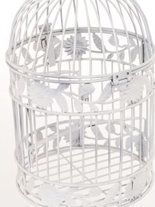 Close Up Of Wire Detail Of A Bird Cage. Stock Image