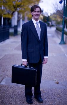Free Businessman With Briefcase Stock Images - 4553124