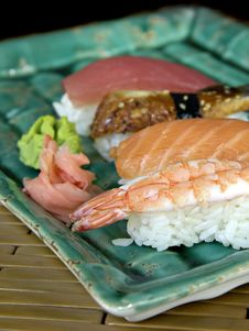 Different Varieties Of Sushi Royalty Free Stock Image