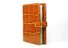 Free Orange Leather Organizer Royalty Free Stock Photo - 4553605