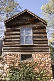 Free Old Plank House On Stone Foundation Stock Image - 4553721
