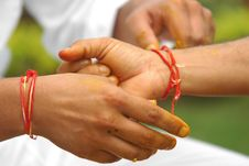 Free Tying Sacred Thread Stock Images - 4554104
