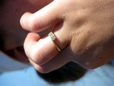 Free Ring On Hand Stock Images - 4554134