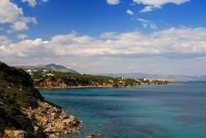Blue Beach Stock Photography