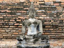Concrete Buddha Statue Stock Images
