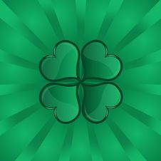 Free Four-leaf Clover Background Royalty Free Stock Images - 4554309