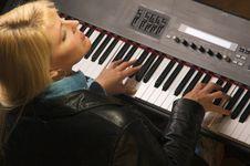 Female Musician Performs Stock Photos