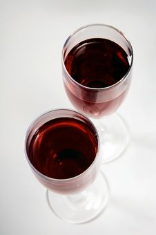 Free Glasses With Red Wine Stock Images - 4554824
