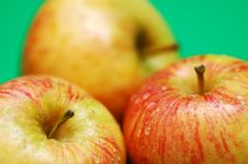 Three Apples Royalty Free Stock Photos