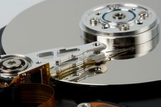 Free Closeup Opened Hard Disk Drive Stock Images - 4555694