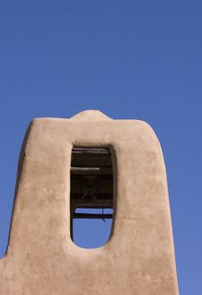 Free Belltower On Adobe Church Stock Photo - 4555750