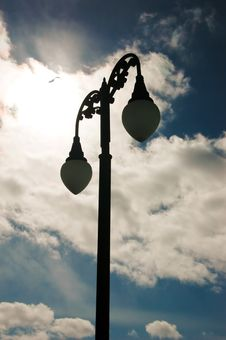 Free Lamp Post And Bright Sky Stock Image - 4557221