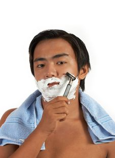 Free A Man Shaving Royalty Free Stock Photo - 4557535