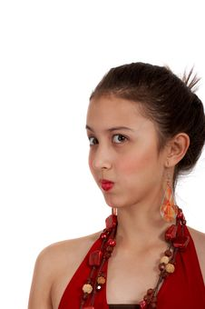 Girl On Red Top Royalty Free Stock Image