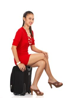 Free Attractive Girl Sitting Stock Photos - 4557743