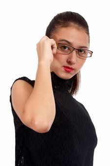 Free Girl With An Eyeglass Stock Photo - 4557750