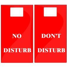 Free Don T Disturb Label Stock Photography - 4557782