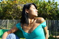 Free Woman Looking Towards The Sun Royalty Free Stock Image - 4564776