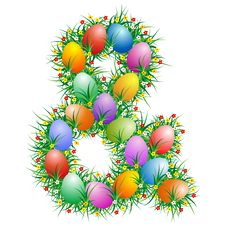 Free Easter Ampersand Royalty Free Stock Photography - 4560267