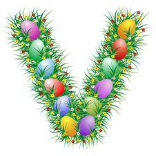 Free Easter Letter V Stock Photo - 4561340