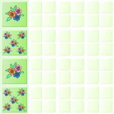 Free Flower Tiles Wall Border Royalty Free Stock Photos - 4561468