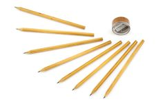 Free Pencils And Sharpener Royalty Free Stock Image - 4561946