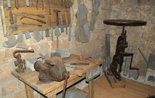Old Metalwork Workshop Royalty Free Stock Image