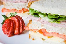 Ham, Cheese And Tomato Sandwich Stock Images