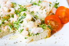 Free Sliced Prawn And Cress Sandwich Royalty Free Stock Photos - 4563718