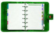 Free Green Organizer Stock Image - 4563821