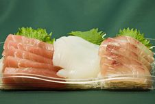 Free Japanese Raw Fish Slices Royalty Free Stock Photo - 4564345