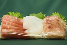 Japanese Raw Fish Slices Royalty Free Stock Photo