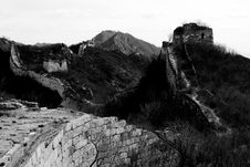 The Great Wall On Jiankou Royalty Free Stock Images