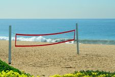 Free Beach Volleyball Net 2 Stock Image - 4564631