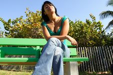 Free Woman On A Bench Royalty Free Stock Photography - 4564737