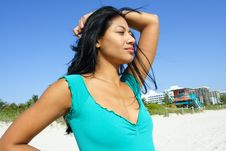 Free Woman At The Beach Stock Photos - 4564963