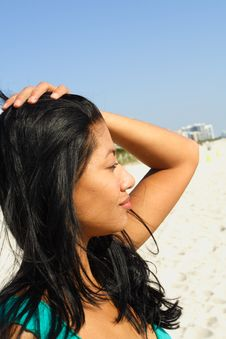 Woman At The Beach Royalty Free Stock Image