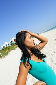Free Woman At The Beach Royalty Free Stock Photography - 4564967