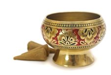 Free Gold Candlestick For Aroma Stock Image - 4565181