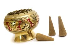 Free Gold Candlestick For Aroma Stock Photos - 4565193