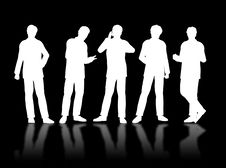 Free Businessmen Silhouettes Stock Image - 4565901