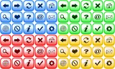 Free Set Of Color Buttons For Internet Browser Stock Photography - 4566492