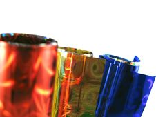 Free Set Of Colored Packing Paper Royalty Free Stock Images - 4566529