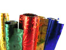 Free Set Of Colored Packing Paper Royalty Free Stock Images - 4566539