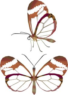 Free Brown Glass Butterfly Stock Photography - 4567192