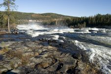 Free Waterfall Storforsen, Biggest In Sweden Stock Photos - 4567433