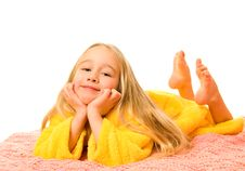 Free Girl Lying On A Bed And Dreaming Stock Images - 4568184